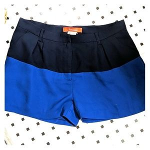 Color block trouser shorts